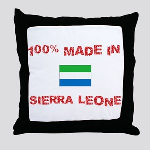 100 Percent Made In Sierra Leone Throw Pillow