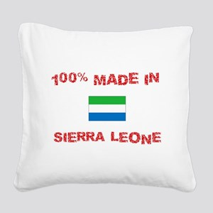100 Percent Made In Sierra Le Square Canvas Pillow