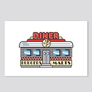 Retro Fast Food Diner Design Postcards (Package of
