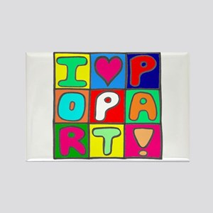 'Love Pop Art' Rectangle Magnet