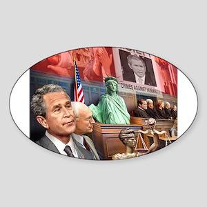 Bush Trial Oval Sticker