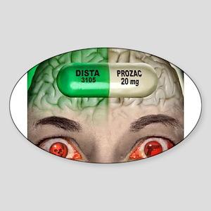 Prozac Oval Sticker