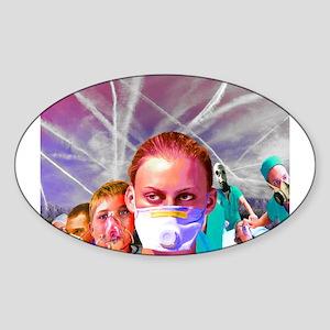 ChemTrail poisoning Oval Sticker