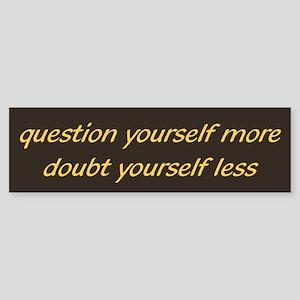 Question & Doubt Sticker (Bumper)