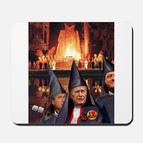 Bohemian Grove Bushes Mousepad