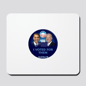 Obama Biden I VOTED Mousepad