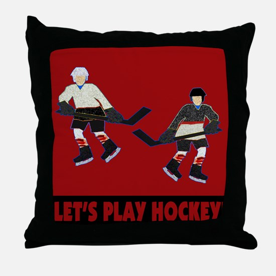 Hockey Boys Throw Pillow