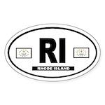 Rhode Island international style Oval Sticker