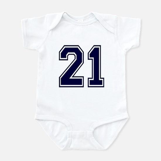 NUMBER 21 FRONT Infant Bodysuit