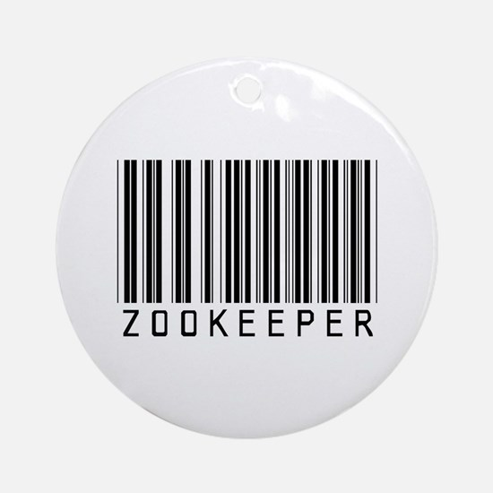 Zookeeper Barcode Ornament (Round)