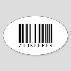 Zookeeper Barcode Oval Sticker