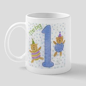 Blue 1st Birthday Bear Boy Mug