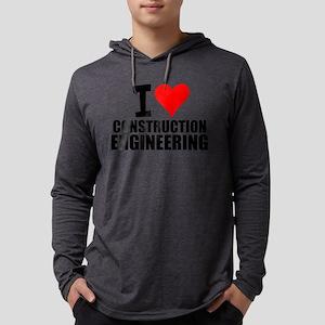 I Love Construction Engineering Long Sleeve T-Shir