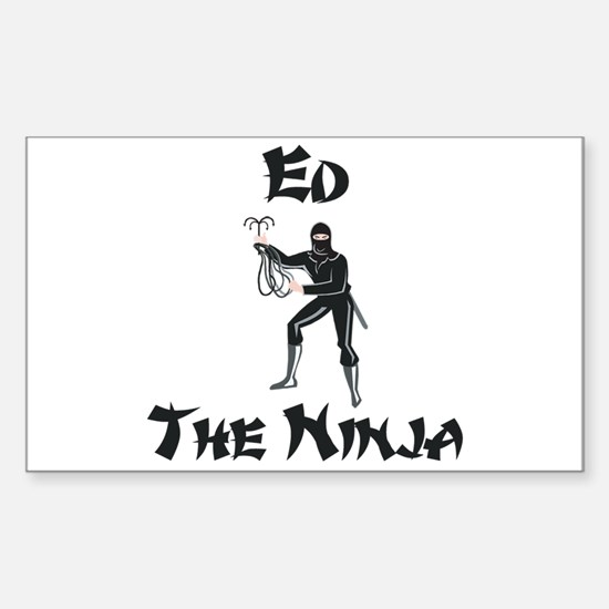 Ed - The Ninja Rectangle Decal