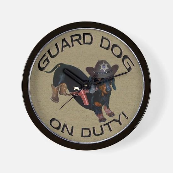 Helaine's Guard Dog Wall Clock