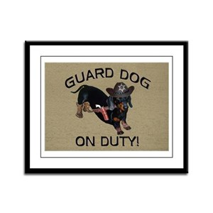 Helaine's Guard Dog Framed Panel Print