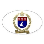 ROBITAILLE Family Crest Oval Sticker