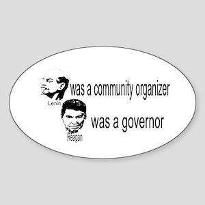 Lenin Community Organizer Oval Sticker