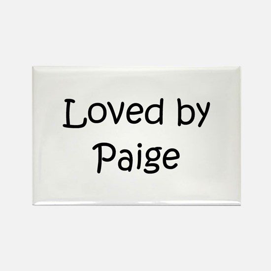 Funny Paige Rectangle Magnet