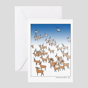 Reindeer Herd Greeting Card