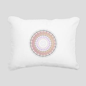 Boho tribal radial Manda Rectangular Canvas Pillow