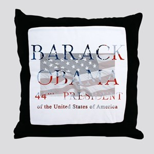 Barack Obama 44th President Throw Pillow