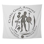 Celtic Chieftain Coin Wall Tapestry