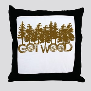 Shaun Dead Got Wood Throw Pillow