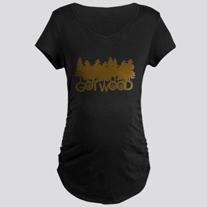 Shaun Dead Got Wood Maternity Dark T-Shirt