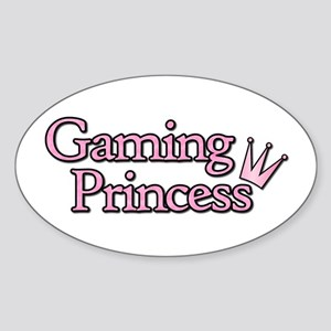 Gaming Princess Oval Sticker