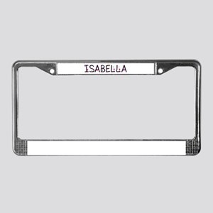 Isabella (Girl) License Plate Frame