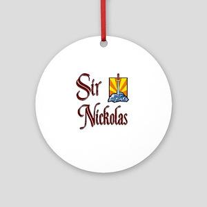 Sir Nickolas Ornament (Round)