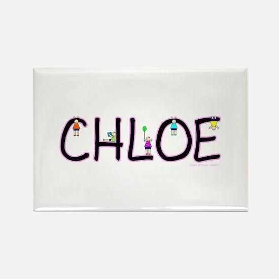 Chloe (Girl) Rectangle Magnet (100 pack)