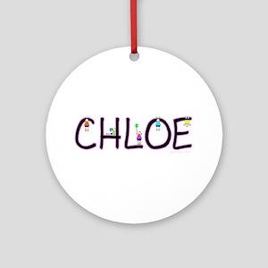 Chloe (Girl) Ornament (Round)