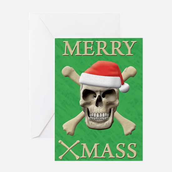 Santa Skull Greeting Card