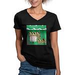 Firewood for Sale Women's V-Neck Dark T-Shirt