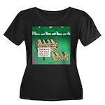 Firewood Women's Plus Size Scoop Neck Dark T-Shirt
