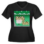 Firewood for Women's Plus Size V-Neck Dark T-Shirt