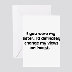 Incest greeting cards cafepress creepy pick up line greeting cards pk of 10 m4hsunfo Images