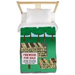 Firewood for Sale Twin Duvet Cover