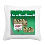 Firewood for Sale Square Canvas Pillow