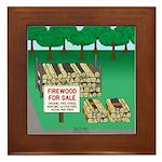 Firewood for Sale Framed Tile