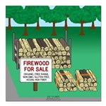 Firewood for Sale Square Car Magnet 3