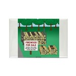 Firewood for Sale Rectangle Magnet (100 pack)