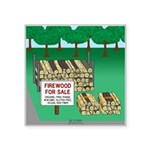 Firewood for Sale Square Sticker 3