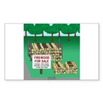 Firewood for Sale Sticker (Rectangle 10 pk)