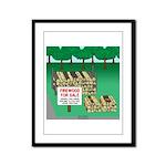 Firewood for Sale Framed Panel Print