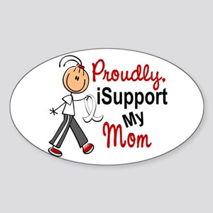 I Support My Mom 1 (SFT LC) Oval Sticker