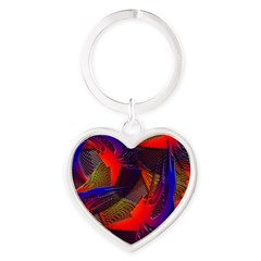 Brazen Bold Mesh Heart Keychain