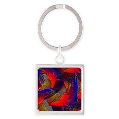 Brazen Bold Mesh Square Keychain